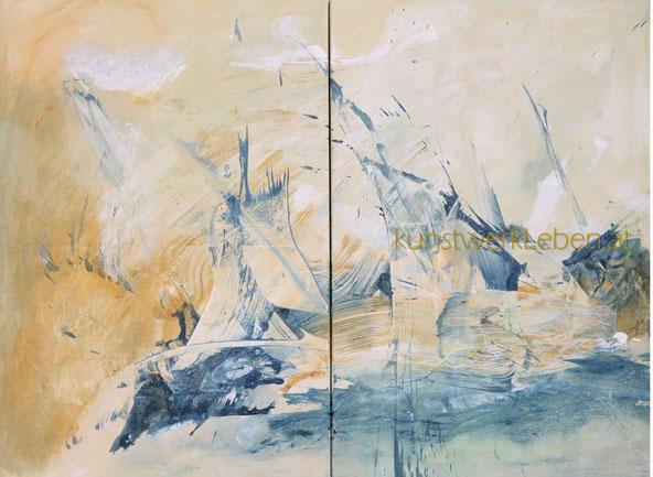 REGATTA, Acryl auf Leinwand, hochwertig gerahmt mit Schattenfuge, 120cm breit x 90cm hoch