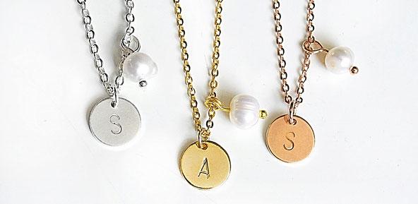 initial letter kette necklace buchstaben graviert modeschmuck geschenk anhänger mit buchstabe rose gold 925er dein name namenskette