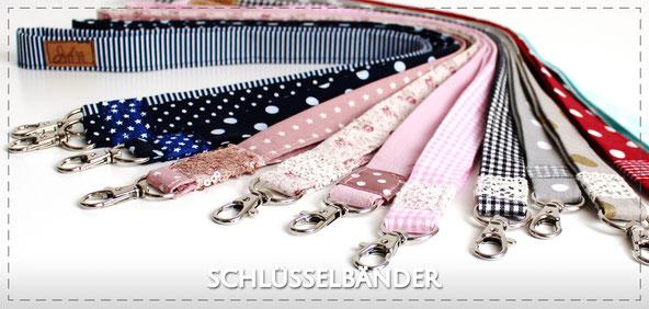 Julia Design Stoff Baumwolle handmade Handarbeit schön Schlüsselband Schlüssel key Anhänger