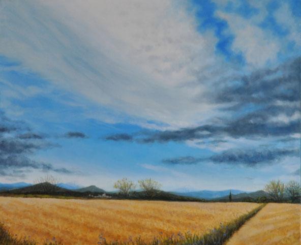 art-paysage-uzes-peinture-blauzac-ciel-couleurs-du-sud