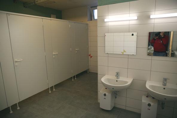 die sanitären Anlagen werden in Kürze in Betrieb genommen