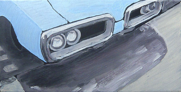 blauer Pontiac wesselydesign ölmalerei