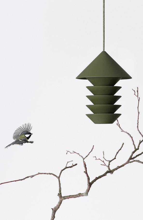 mangeoire oiseaux bird silo recyclé
