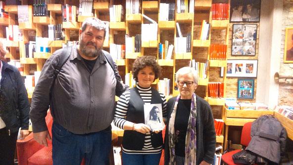 D'esquerra a dreta: Sebastià Bennasar, Mixa i Roser Rosés
