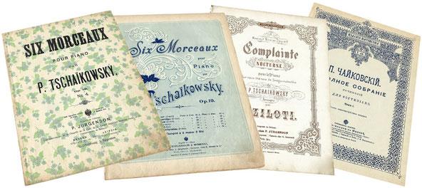 Ноктюрны Чайковского в изданиях Юргенсона, ноты