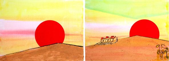 Bild mit Wüstensand, Kunst aus Nussdorf