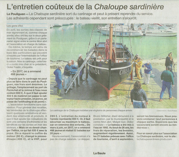 Ouest France 12 avril 2018
