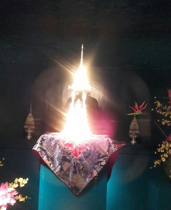 Les reliques du Boudha, pagode de Vincennes, Paris