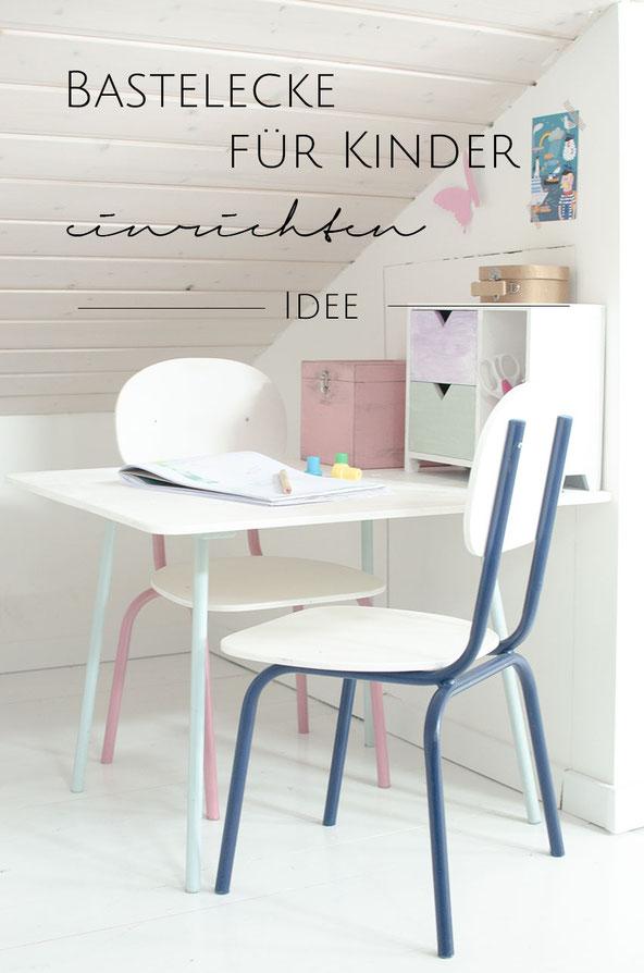 Einen Basteltisch für Kinder einrichten