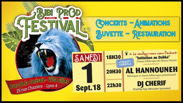 Bibi Prod Festival 1er septembre 2018