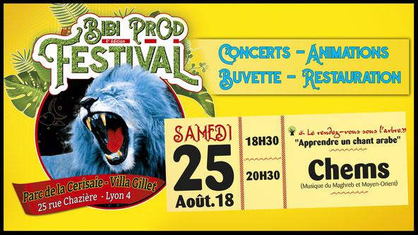 Bibi Prod Festival 25 Août 2018