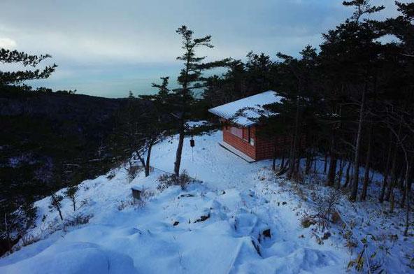 アポイ岳 冬 5合目