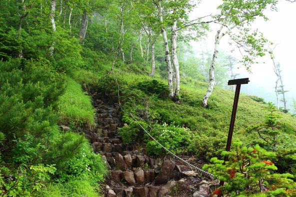 大雪山赤岳登山道