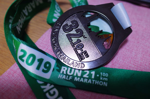 バンコクマラソン2019メダル