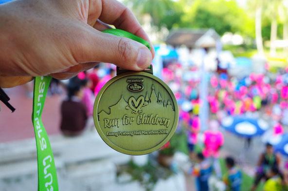 ルアンパバーンハーフマラソン2019メダル