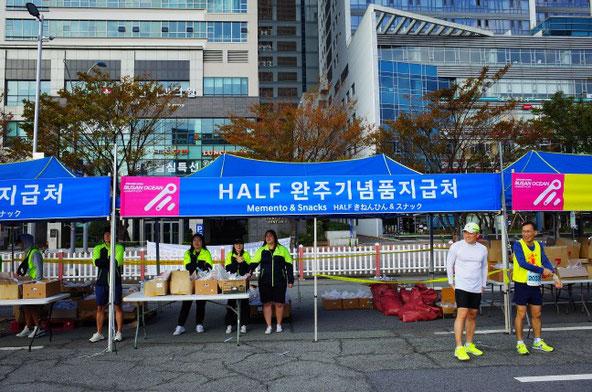 2019釜山海マラソンゴール地点