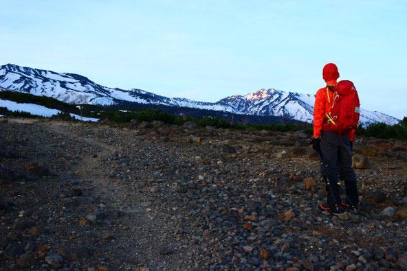 望岳台から富良野岳