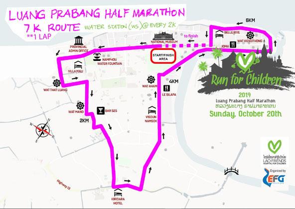 2019ルアンパバーンハーフマラソン7km