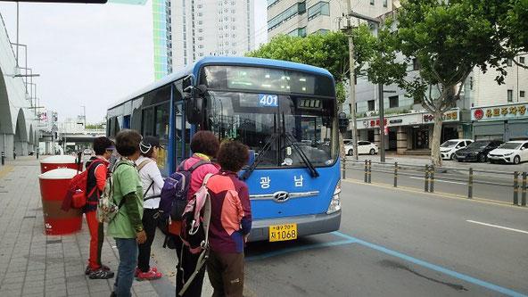 大邱401系統バス東大邱駅アンダーパス