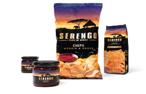 DELECO - Serengo Africa - Launch - hochwertig - modern - afrikanische Stimmung - Chips - würzig - kross - Packaging - Design - DesignKis - 2010 - Verpackung