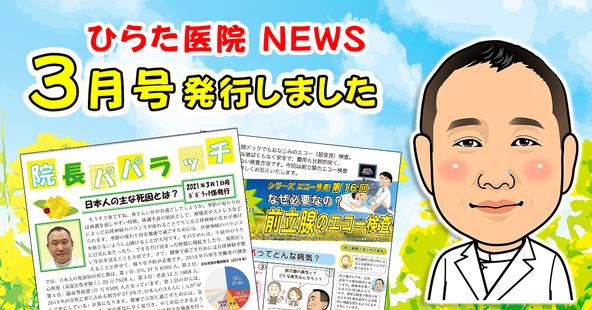 大分市のひらた医院ニュースレター3月号発行