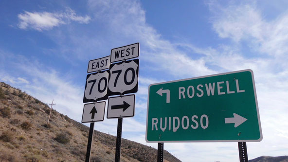 Bild: Sign Roswell, New Mexico