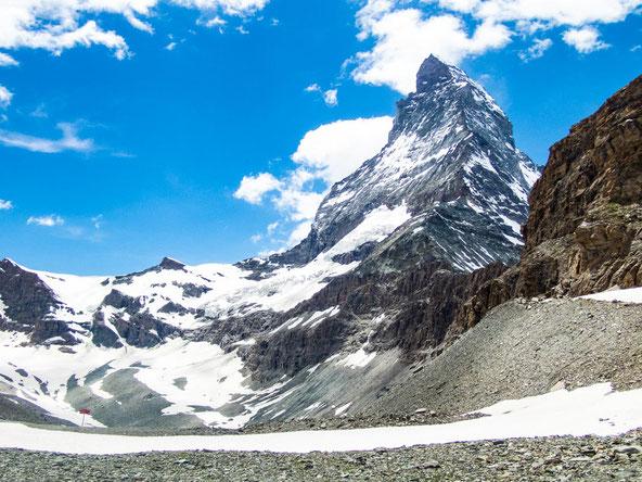 Ein gigantischer Felskoloss - das Matterhorn