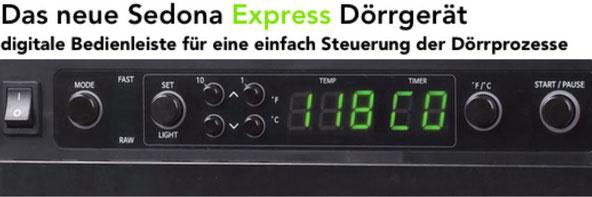 sedona express bedienfeld