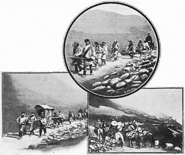 L'ambassadeur de Chine, retour de Lhassa. - Mission lyonnaise d'exploration commerciale en Chine, 1895-1897. Récits de voyages. —  A. Rey et Cie, imprimeurs-éditeurs, Lyon, 1898.