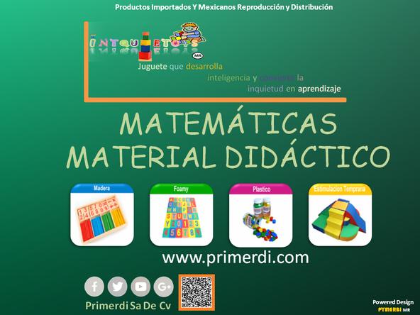 Material didáctico para enseñar a niños las matermaticas  intquietoys  primerdi