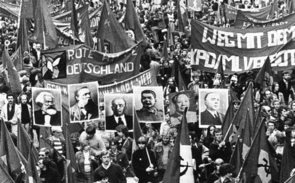 Marxistisk-leninistisk (maoistisk) demo i Vesttyskland i 1970'erne