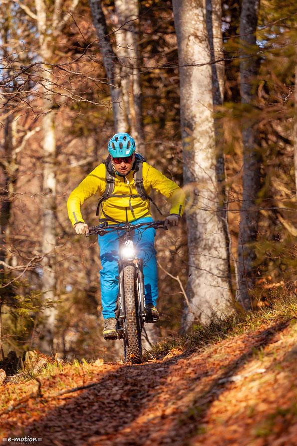 Das Riese & Müller Delite Mountain ist sowohl für lange Touren, als auch für knackige Trails geeignet.