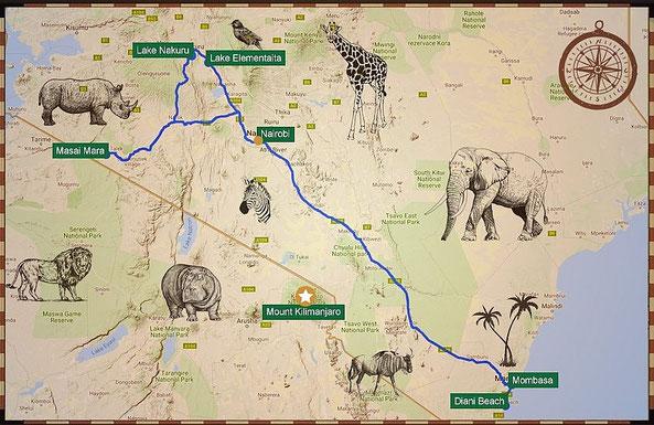 Safari, spiagge e alloggi in Kenya