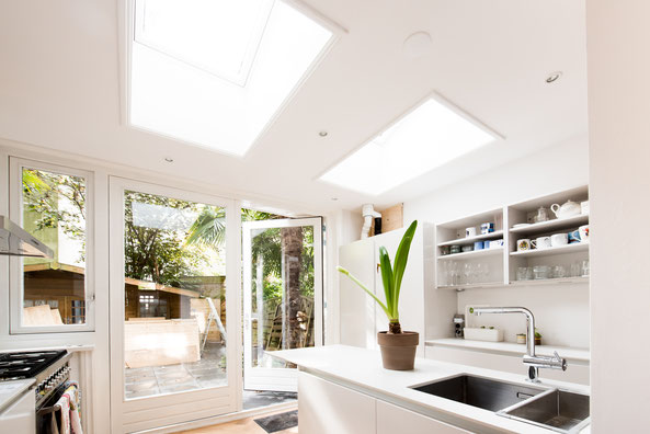 Foto keuken tijdens bouwwerkzaamheden van Marloes van Doorn