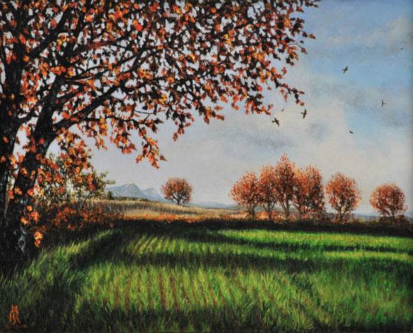 art-figuratif-paysage-blauzac-peinture-uzès