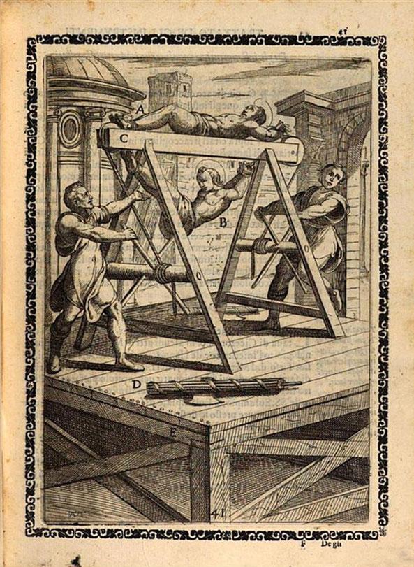 A. Gallonio, Trattato instrumenti di martirio, eculeo