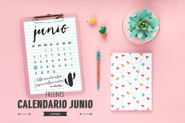 Freebies de calendario: JUNIO by Sami Garra