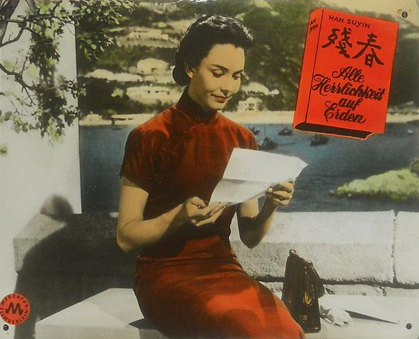 """Beispiel eines handkolorierten Grossfotos. Format ca. 41 x 51 cm """"Alle Herrlichkeit auf Erden"""" USA 1955"""