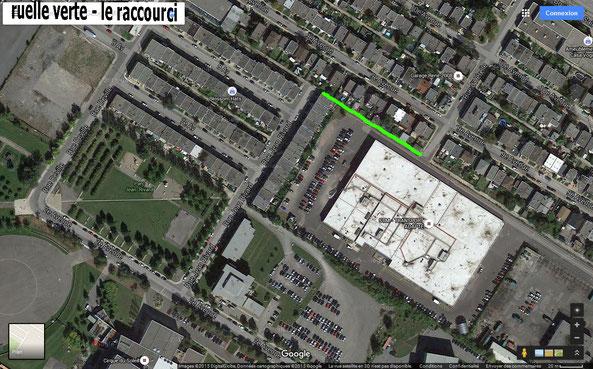 ruelle verte - le raccourci de l'arrondissement St-Michel à Montréal.
