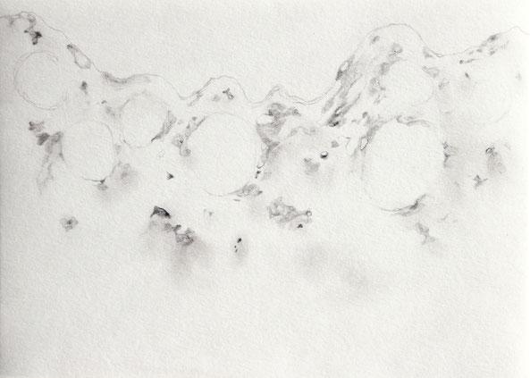o.T., 2021, Bleistift auf Papier,  21x 29.7 cm