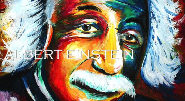 Albert Einstein Gravitationswellen - Unikat/Original auf Leinwand 70 x 80 cm. Unikat in Acryl auf Leinwand, gespannt auf Keilrahmen. 12.Februar 2016