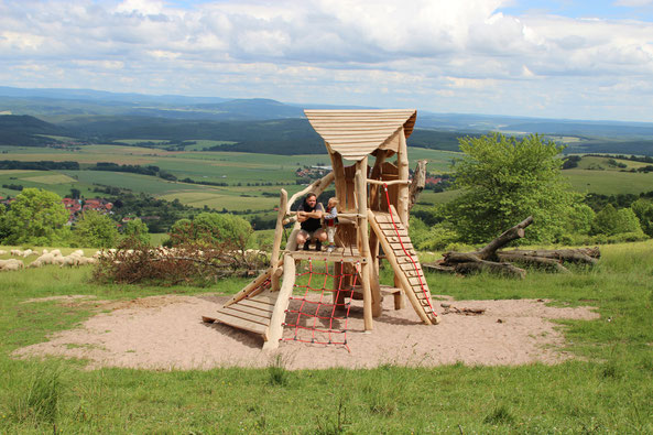 Keltisches Spielelement an der Hümpfershäuser Hütte © Katja Schramm