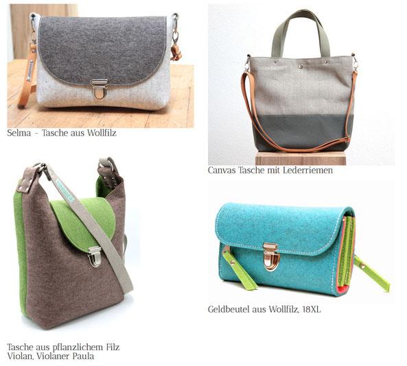 Handgefertigte und hochwertige Taschen made in Germany, ohne Plastik