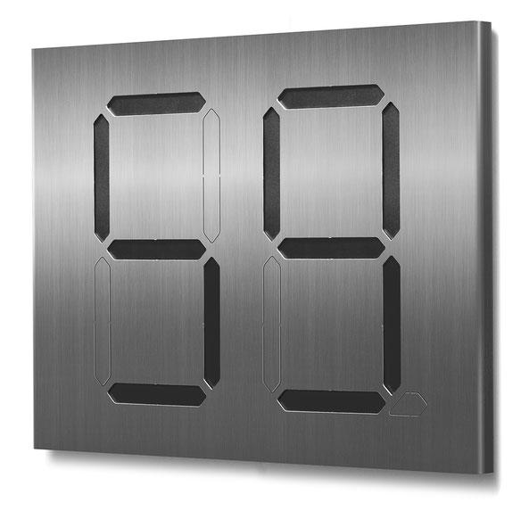 """Segment-Hausnummer """"59"""" schwarz hinterlegt"""