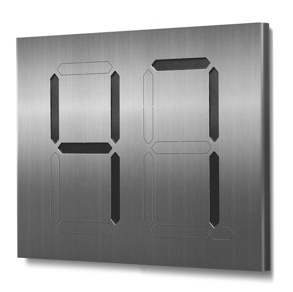 """Segment-Hausnummer """"47"""" schwarz hinterlegt"""
