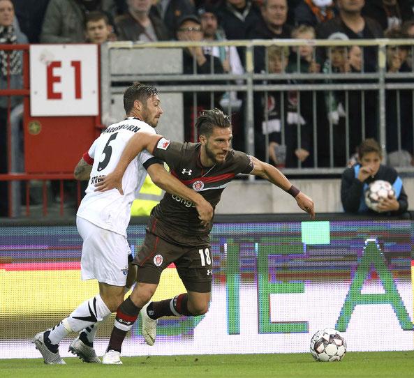 Dimitrios Diamantakos  erzielte das 1:1 für den FC St. Pauli. Foto: CB