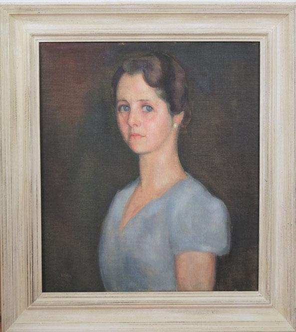 te_koop_aangeboden_een_vrouwen_portret_schilderij_van_de_kunstschilder_toon_kelder_1894-1973_bergense_school