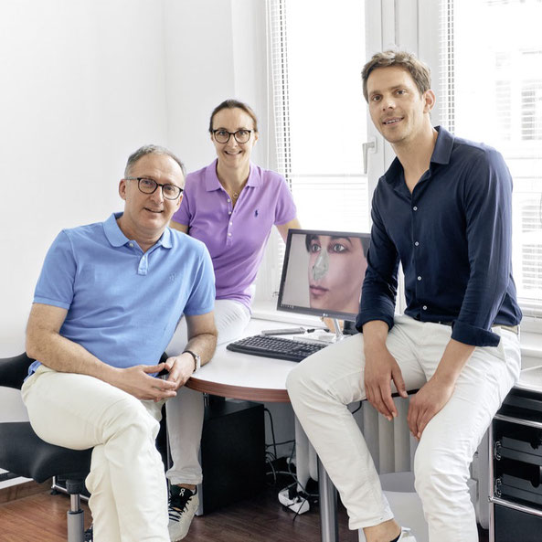 HNO-Fachärzte und spezialisierte Nasenchirurgen: Dr. Milos Kovacevic, Dr. Johannes Bier, Dr. Gesche Kovacevice