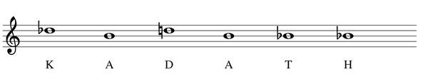thème musique partition Kadath mélodie