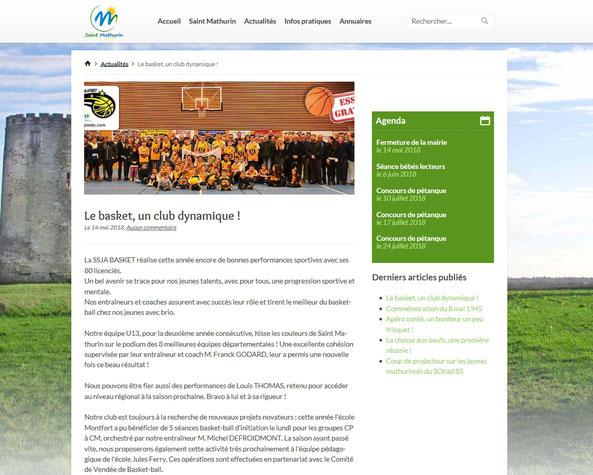 Cliquez s/image pour accéder à l'article directement sur le site de la mairie